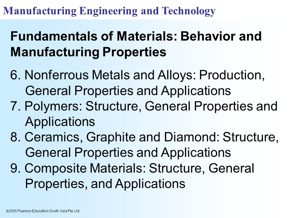 6. Nonferrous Metals and Alloys: Production, General Properties and Applications