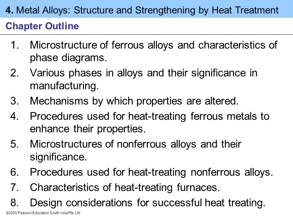 Various phases in alloys and their significance in manufacturing.