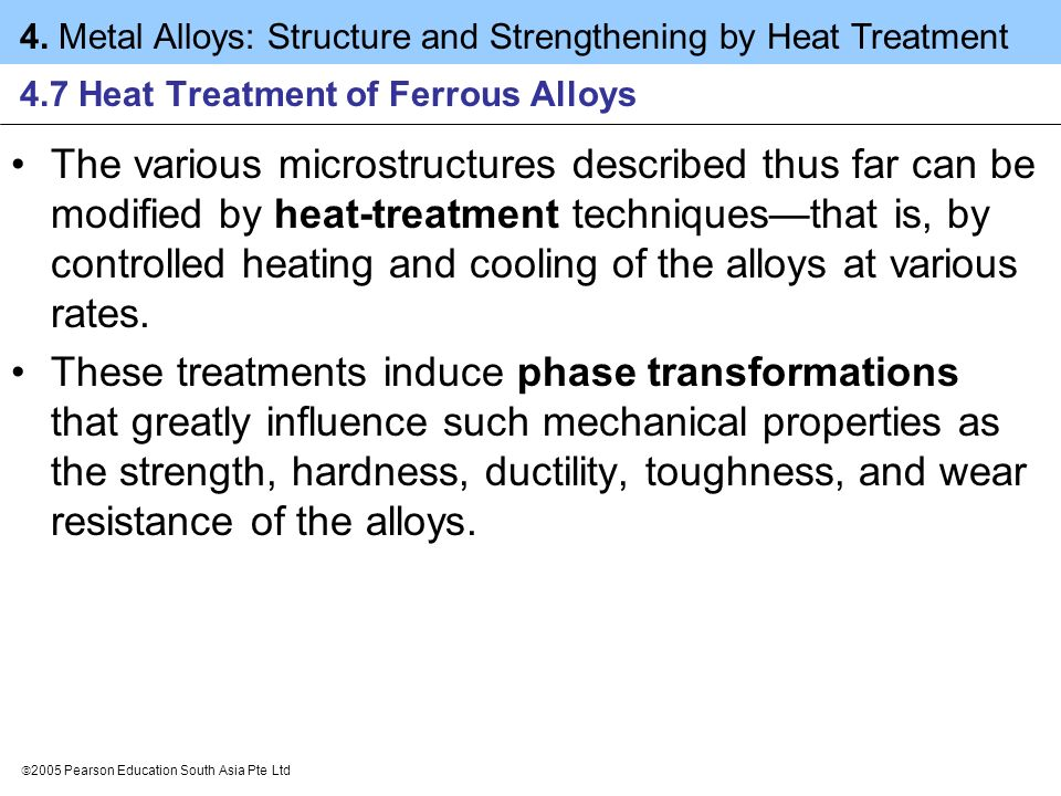 4.7 Heat Treatment of Ferrous Alloys