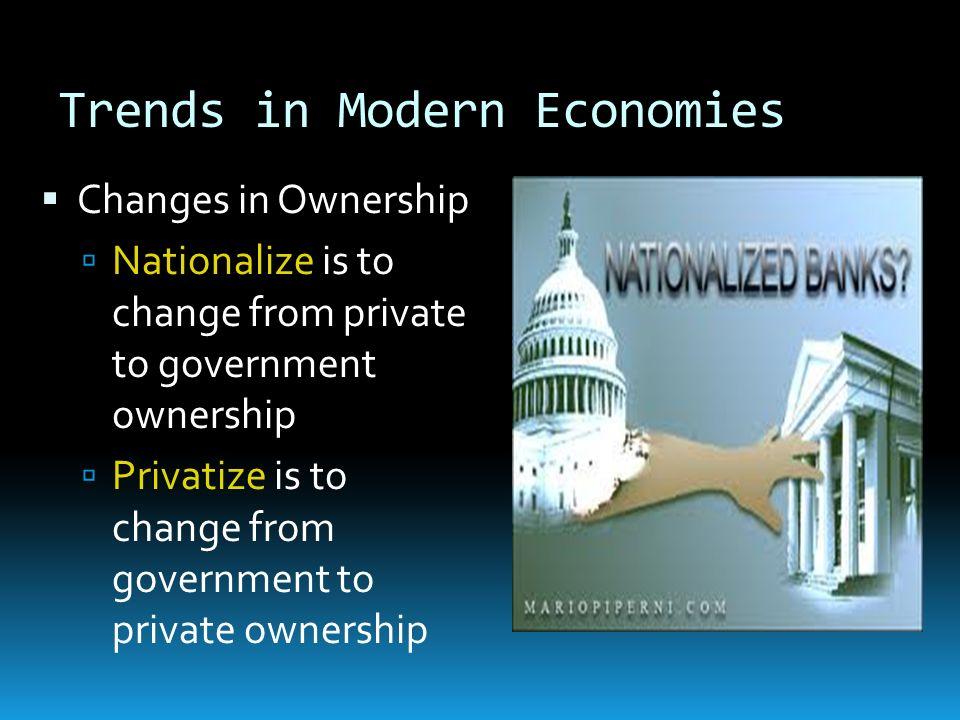 Trends in Modern Economies