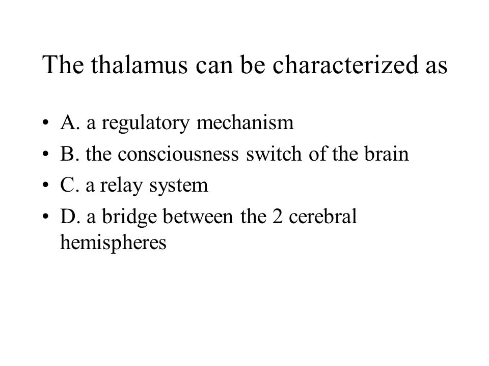 The thalamus can be characterized as