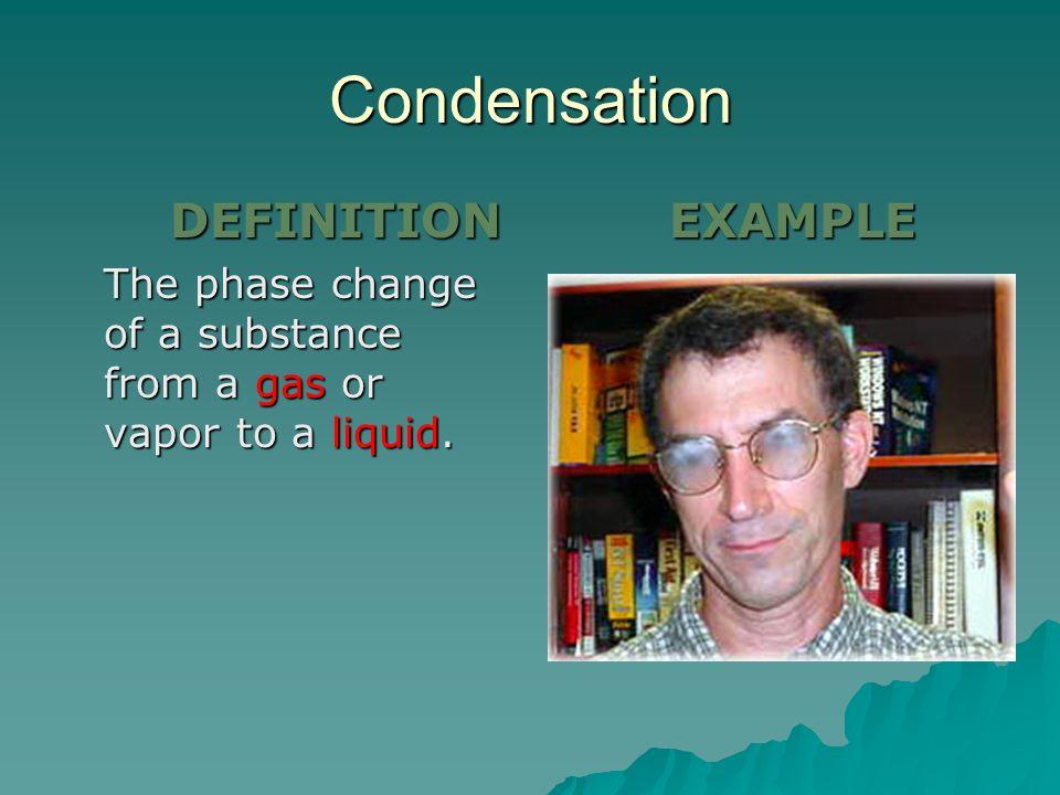 Condensation DEFINITION