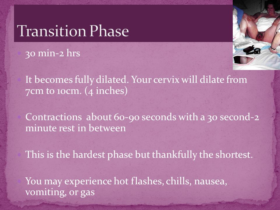 Transition Phase 30 min-2 hrs