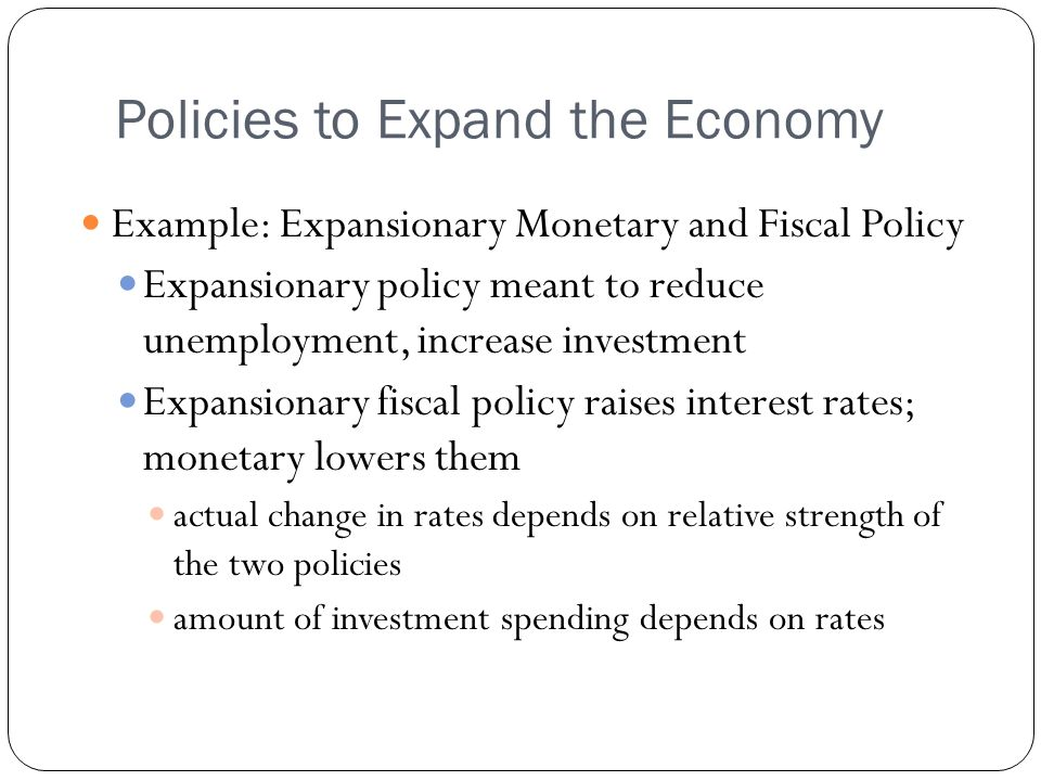 Policies to Expand the Economy