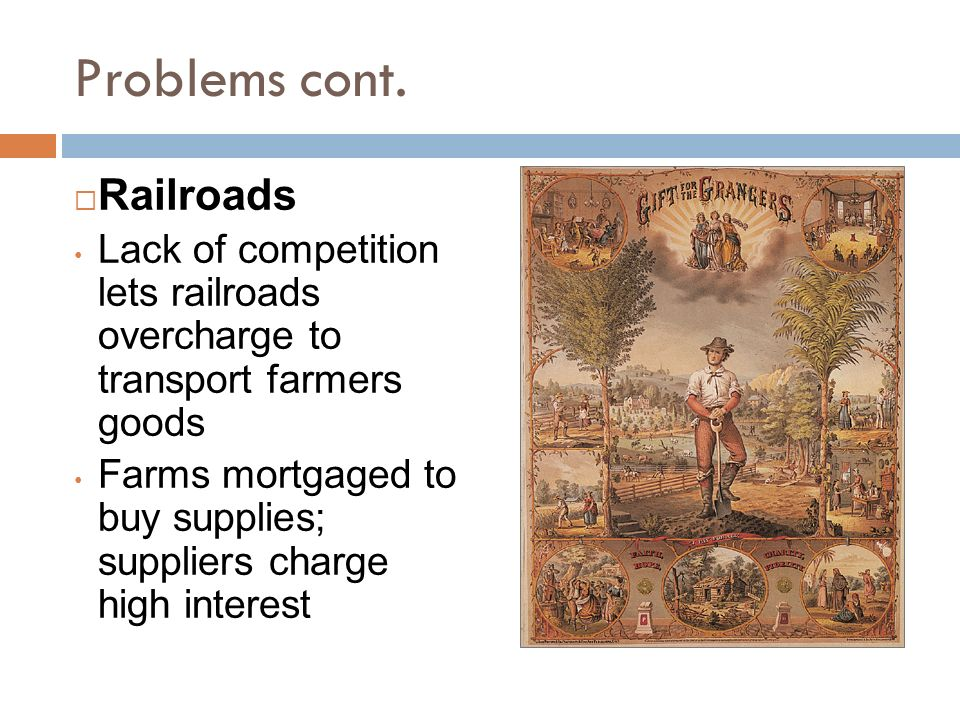 Problems cont. Railroads