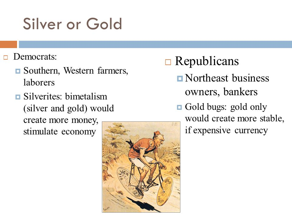 Silver or Gold Republicans Northeast business owners, bankers