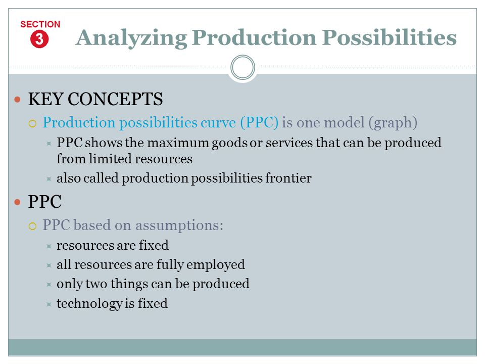 Analyzing Production Possibilities
