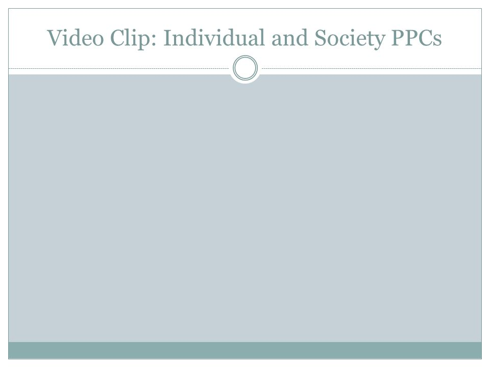 Video Clip: Individual and Society PPCs