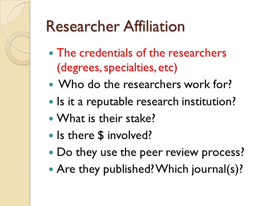 Researcher Affiliation