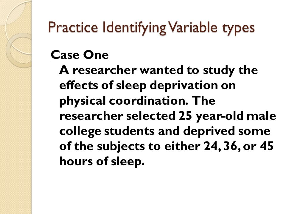 Practice Identifying Variable types