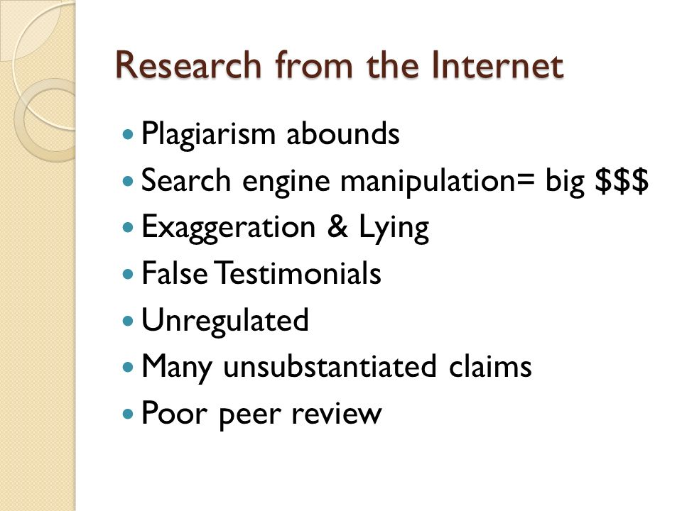 Research from the Internet