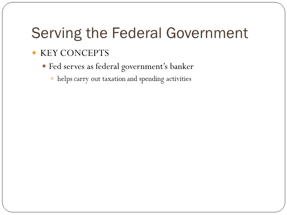 Serving the Federal Government