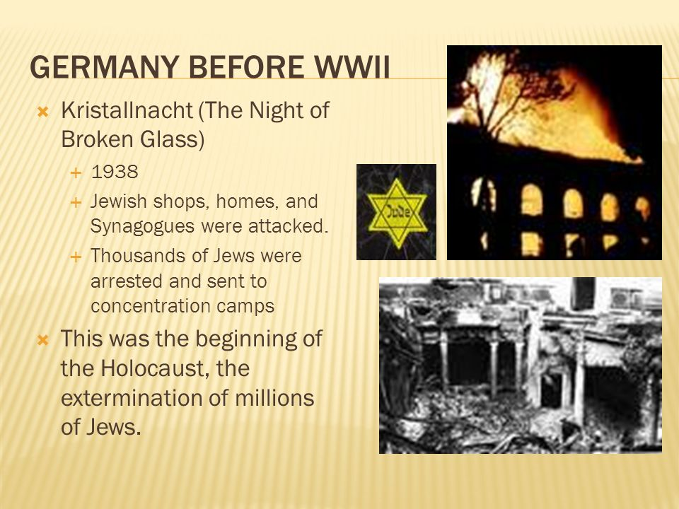 Germany Before WWII Kristallnacht (The Night of Broken Glass)
