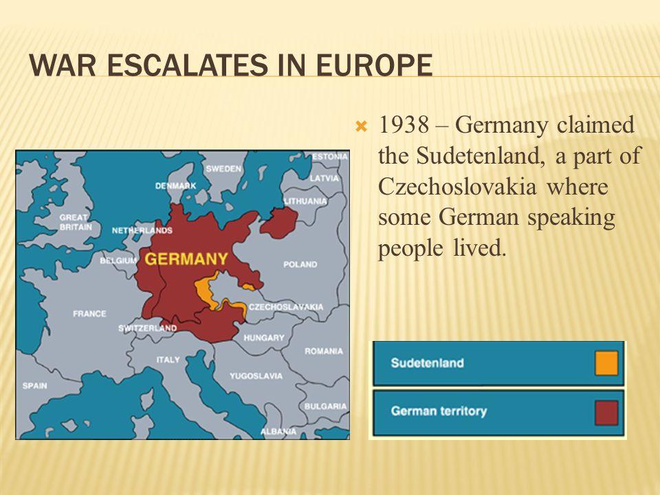 War Escalates in Europe