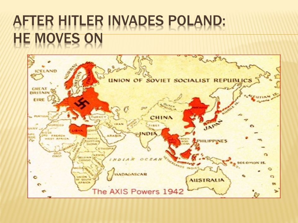 After Hitler invades Poland: He moves on