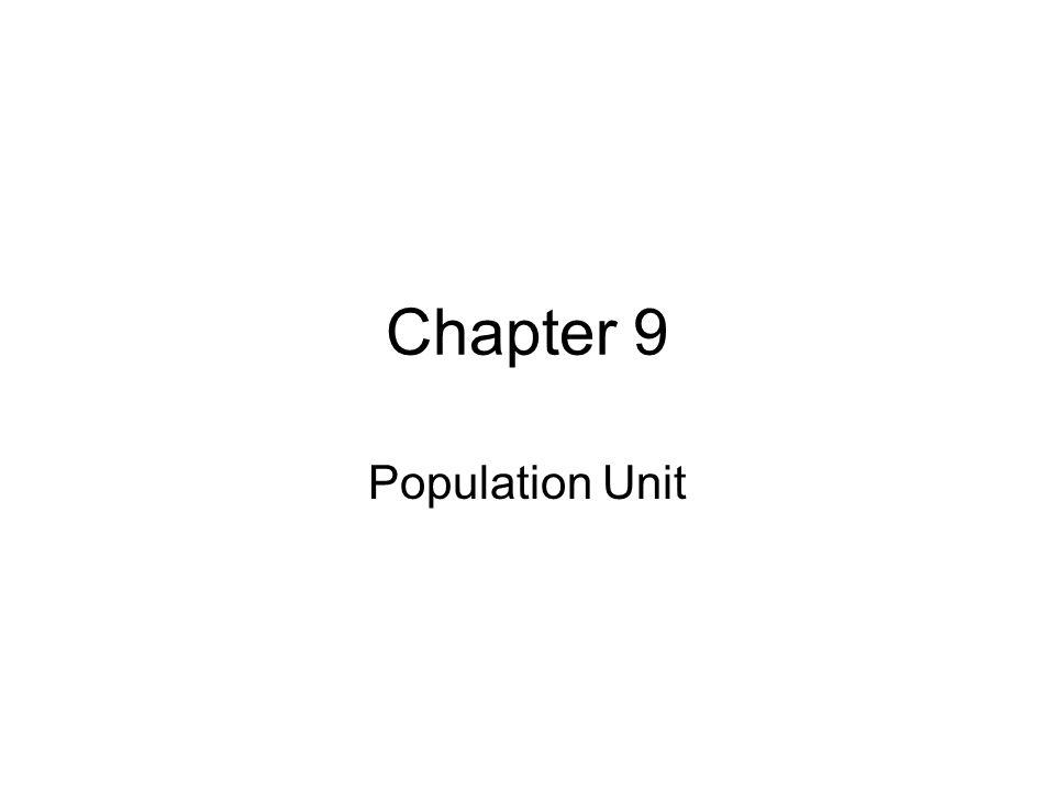 Chapter 9 Population Unit