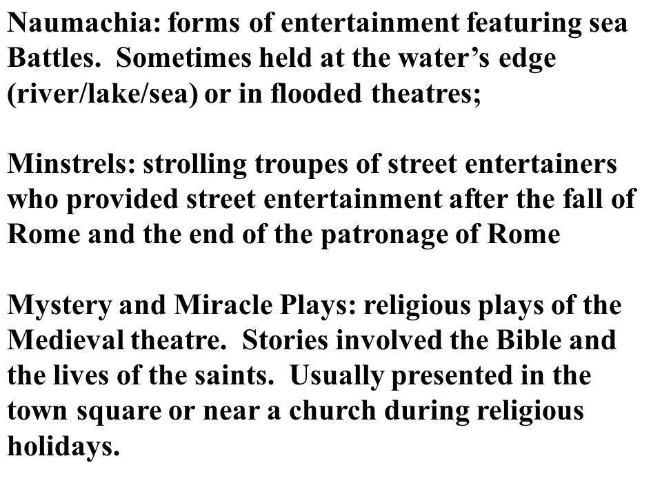Naumachia: forms of entertainment featuring sea