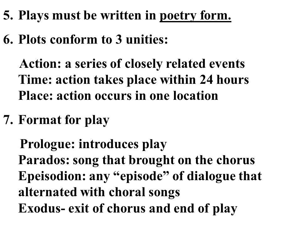 Plays must be written in poetry form.