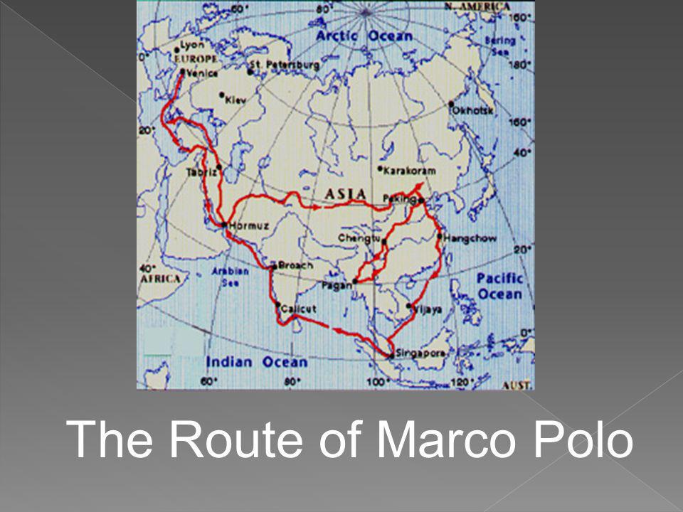 The Route of Marco Polo