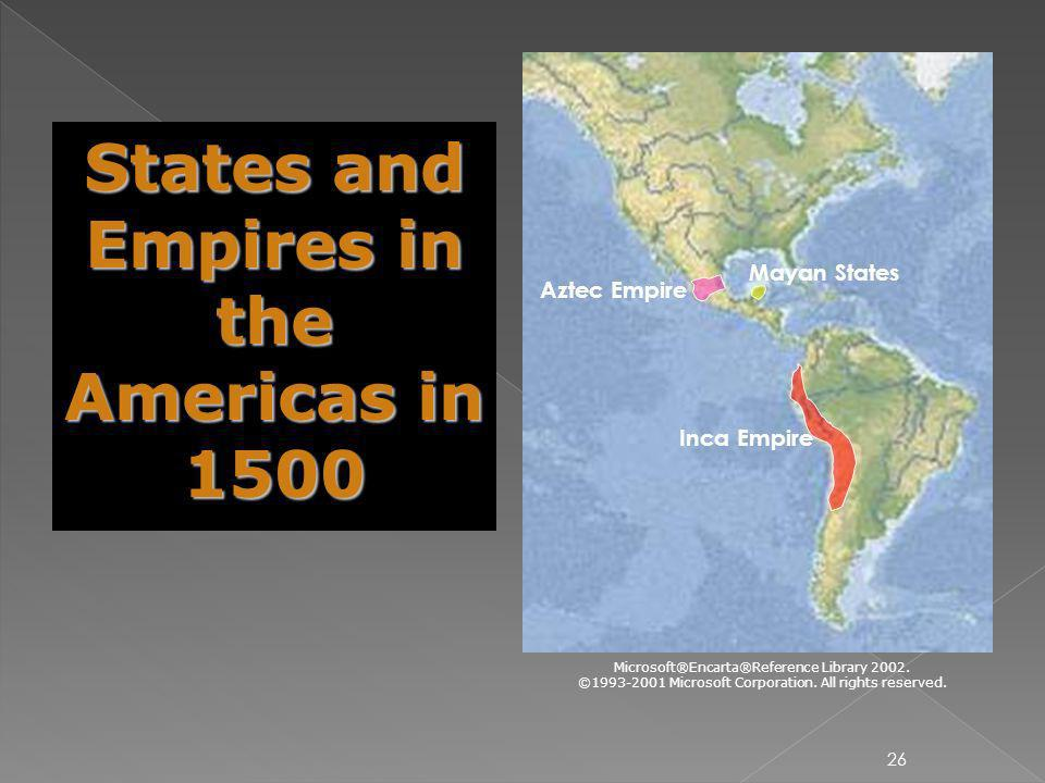 States and Empires in the Americas in 1500