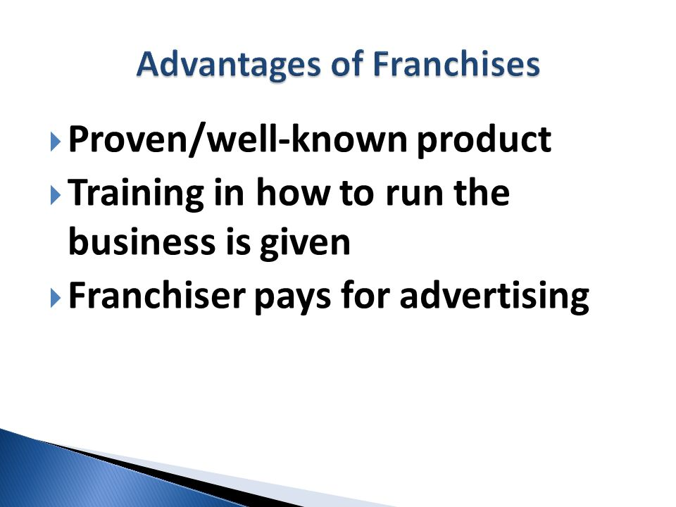 Advantages of Franchises