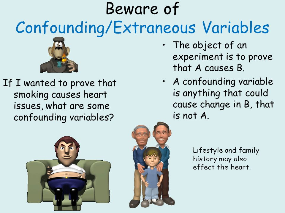 Beware of Confounding/Extraneous Variables