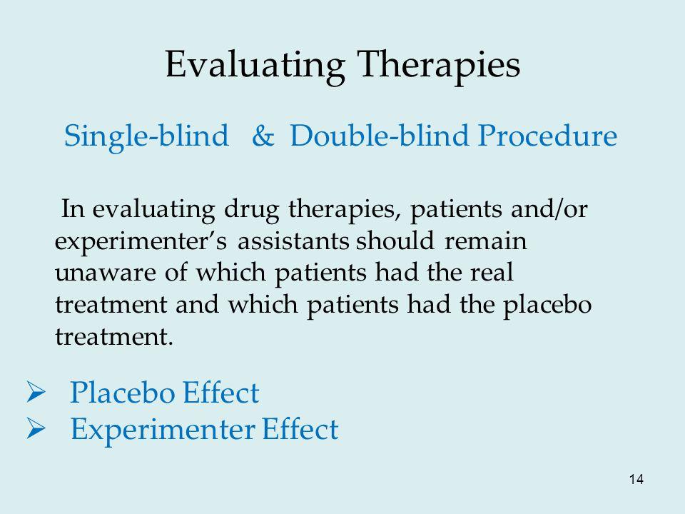 Single-blind & Double-blind Procedure