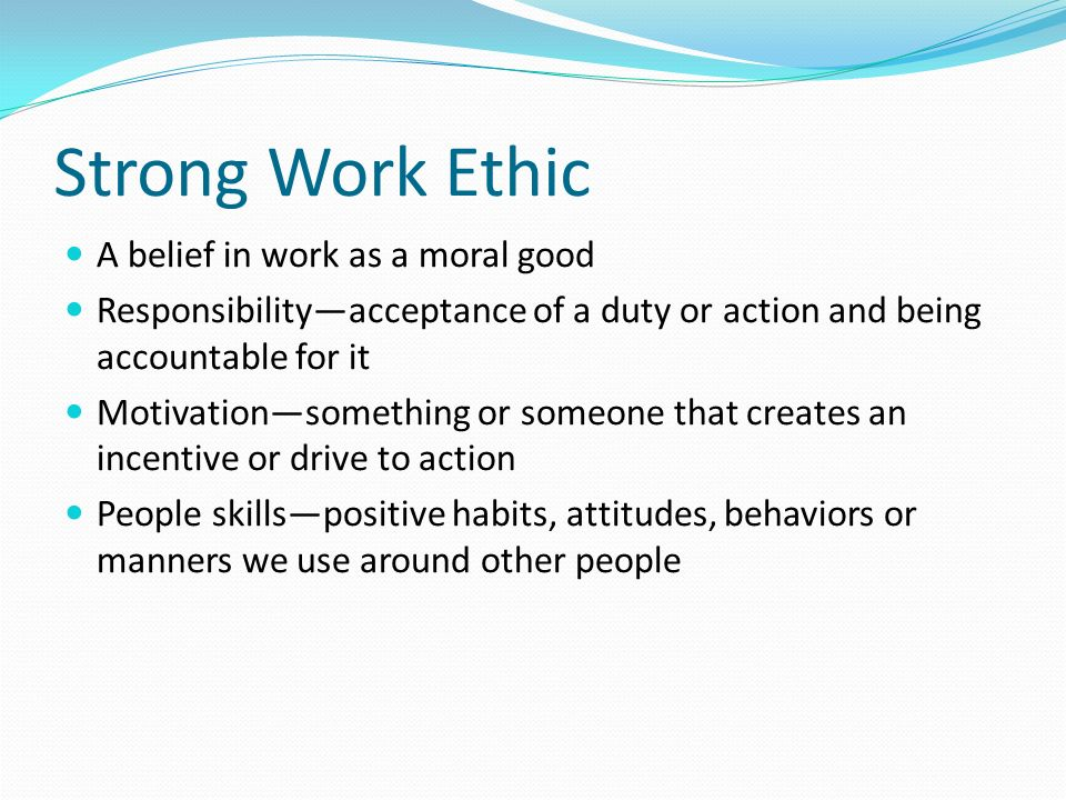work ethic skills co work ethic skills