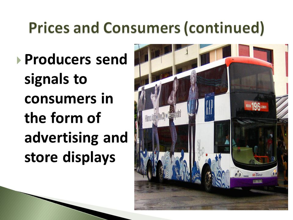 Prices and Consumers (continued)