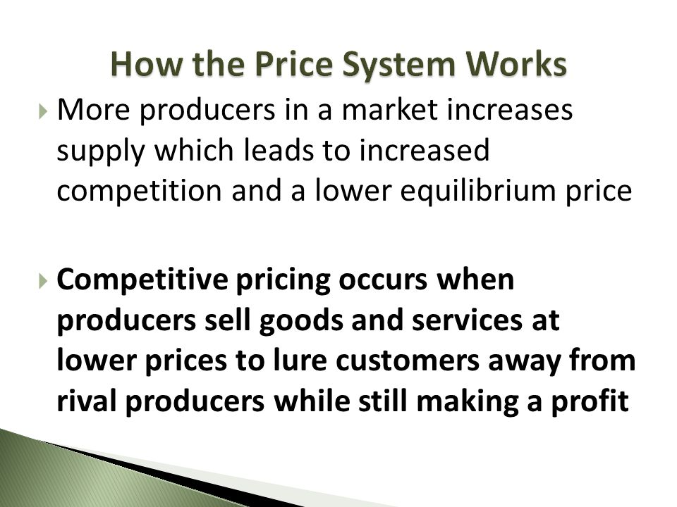 How the Price System Works
