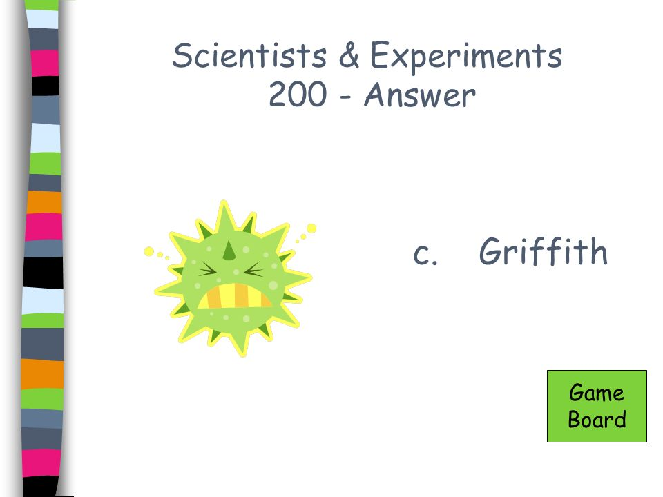 Scientists & Experiments 200 - Answer