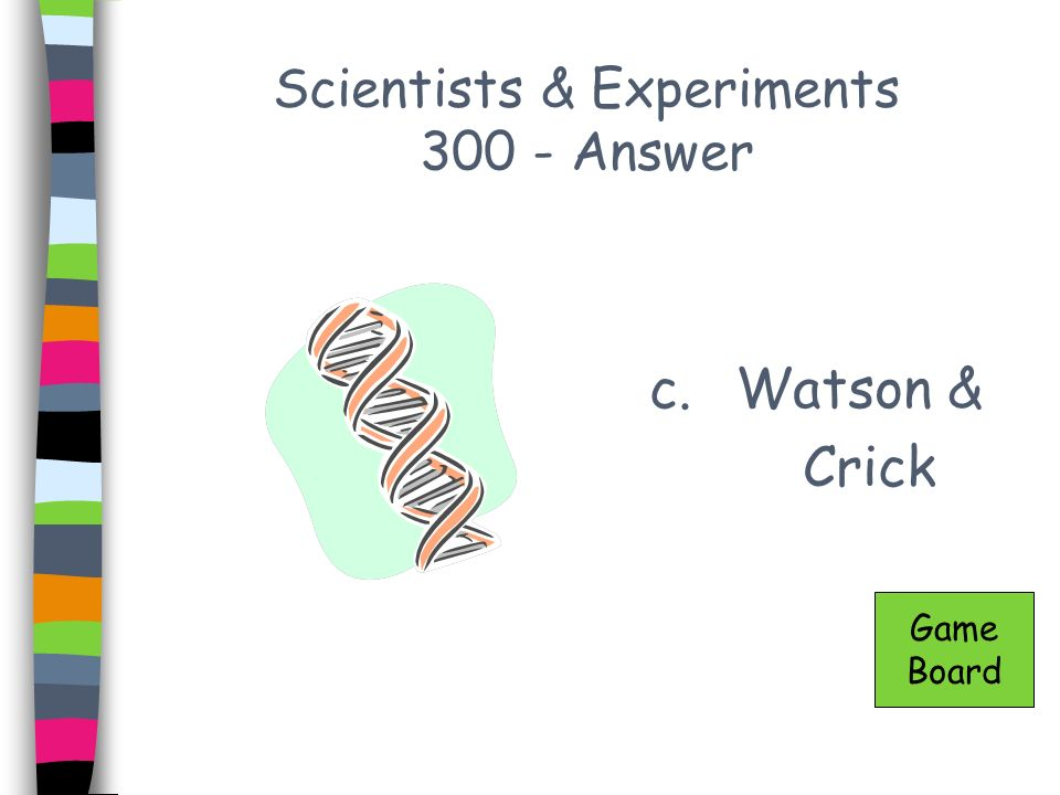 Scientists & Experiments 300 - Answer