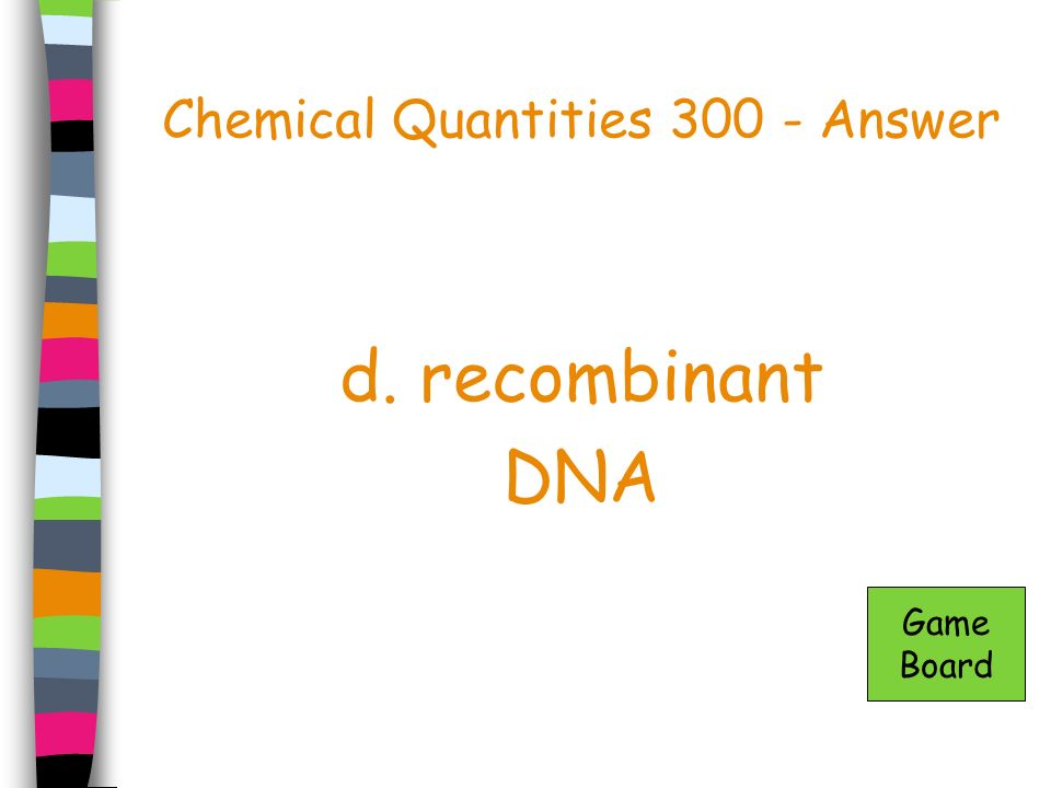 Chemical Quantities 300 - Answer
