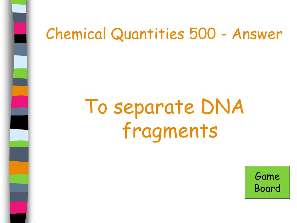 Chemical Quantities 500 - Answer