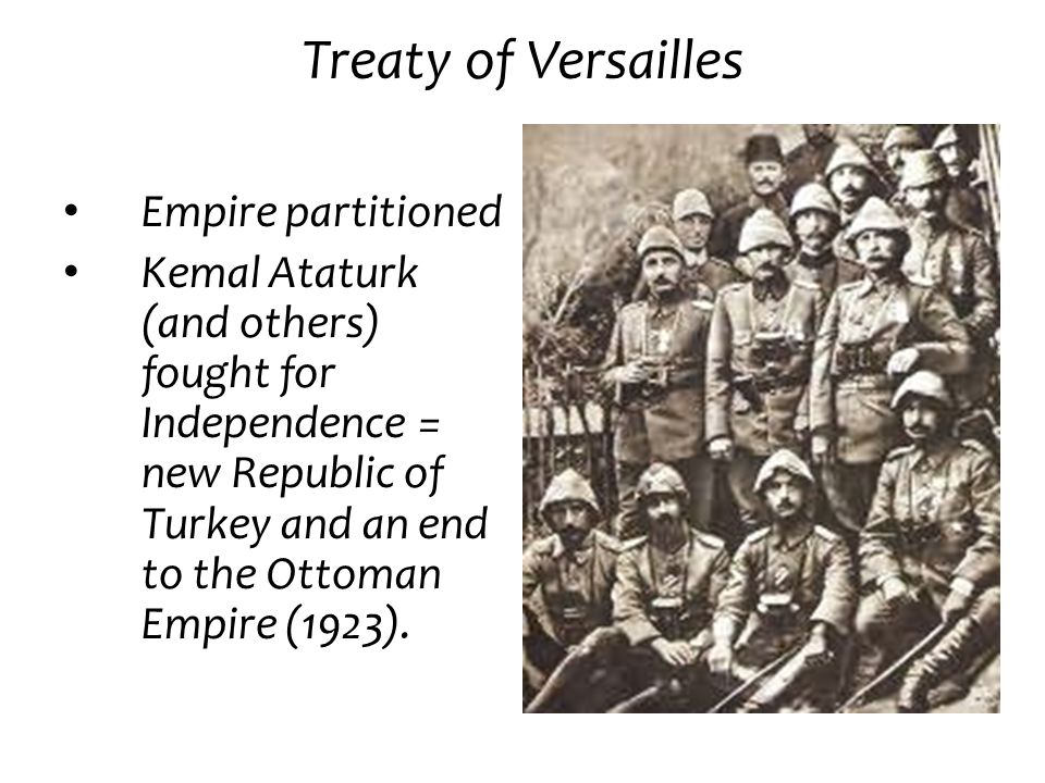 Treaty of Versailles Empire partitioned