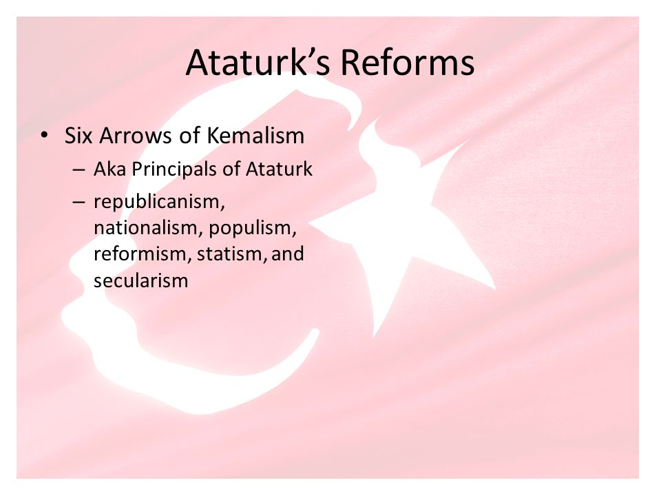 Ataturk's Reforms Six Arrows of Kemalism Aka Principals of Ataturk