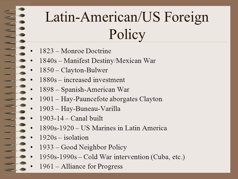 Latin-American/US Foreign Policy