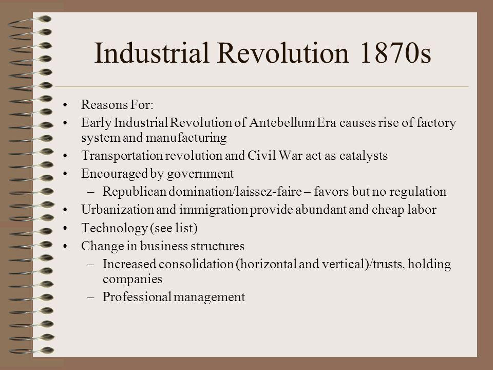 Industrial Revolution 1870s