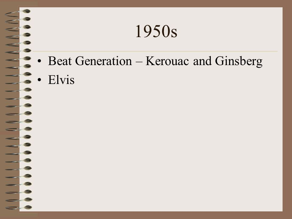 1950s Beat Generation – Kerouac and Ginsberg Elvis