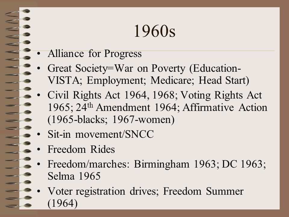1960s Alliance for Progress