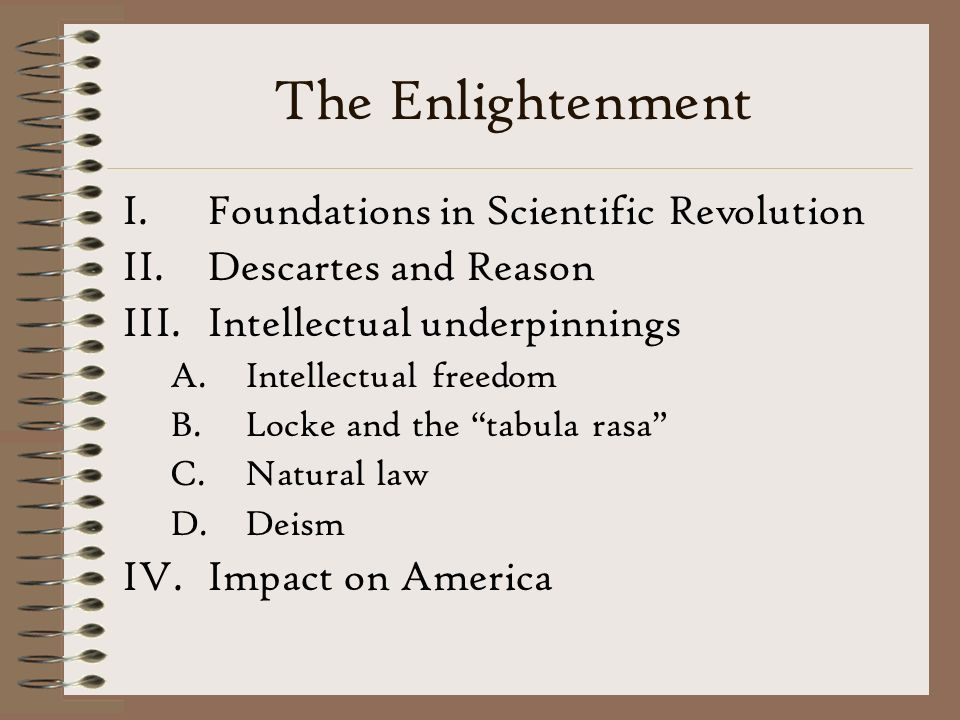 The Enlightenment Foundations in Scientific Revolution