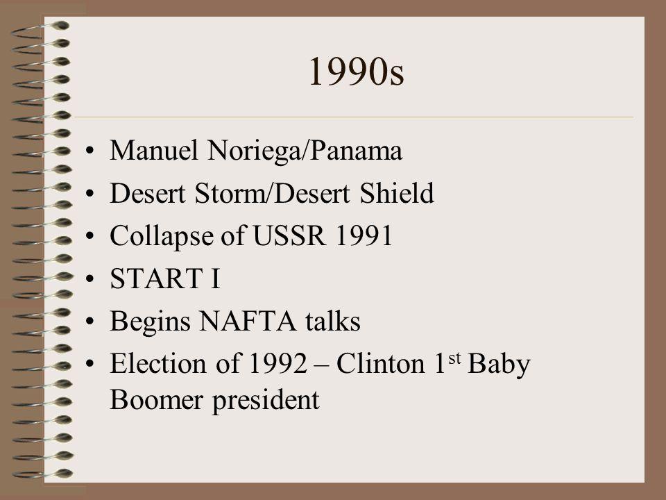 1990s Manuel Noriega/Panama Desert Storm/Desert Shield