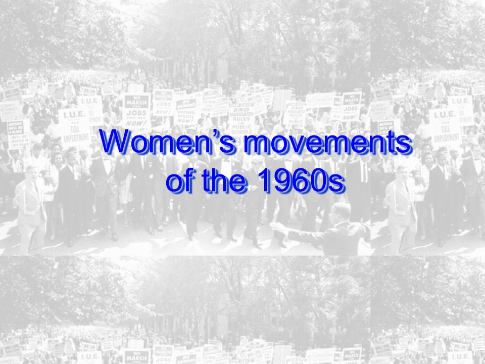 Women's movements of the 1960s