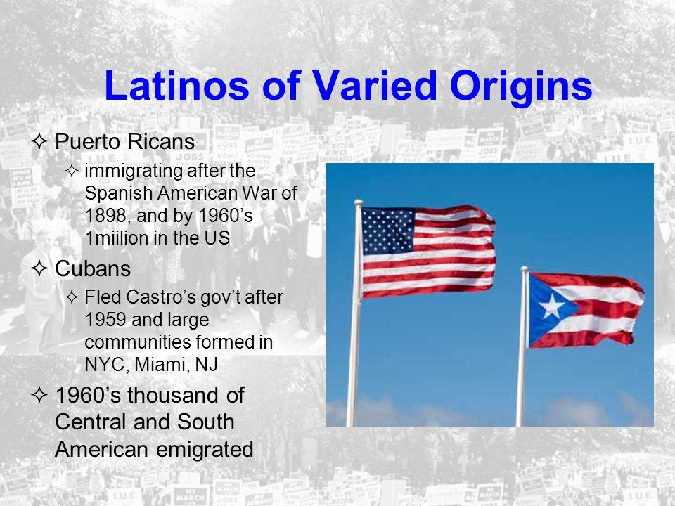 Latinos of Varied Origins