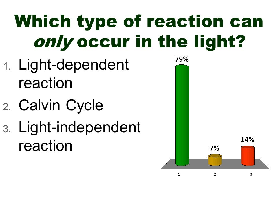 Which type of reaction can only occur in the light