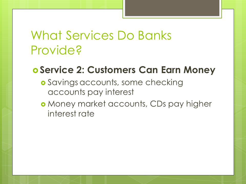 What Services Do Banks Provide