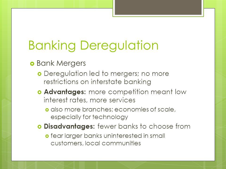 Banking Deregulation Bank Mergers