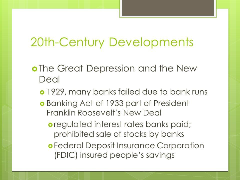 20th-Century Developments