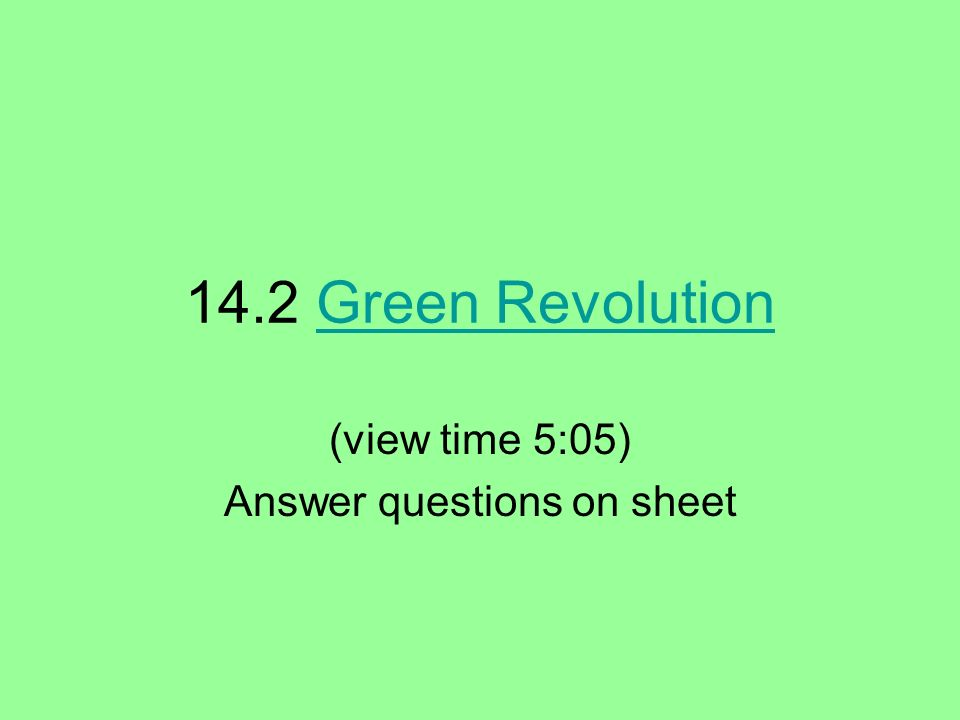 (view time 5:05) Answer questions on sheet