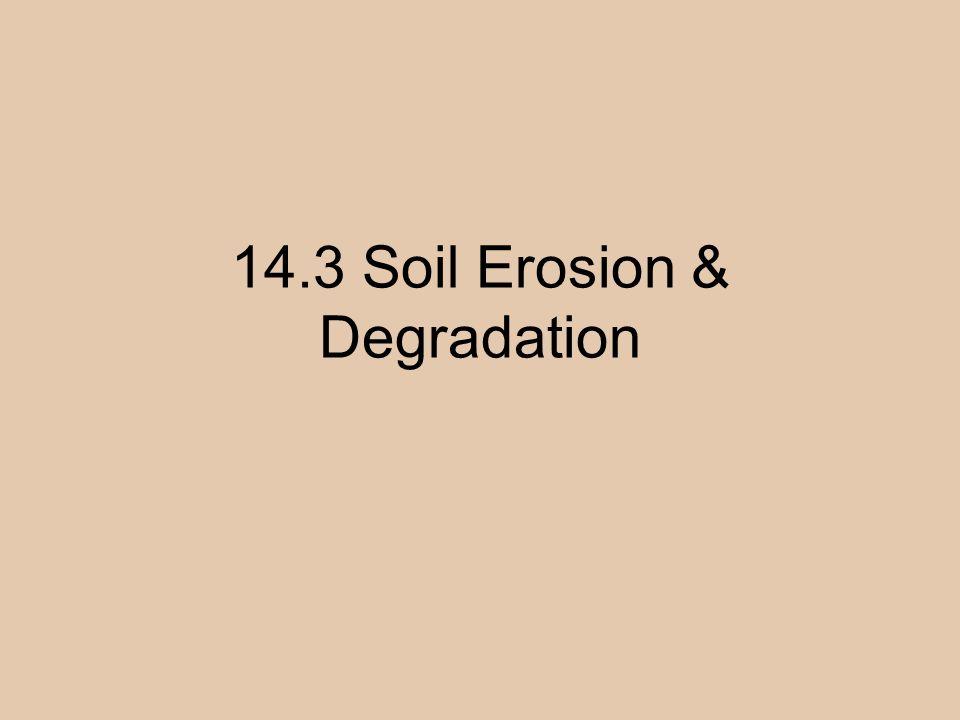 14.3 Soil Erosion & Degradation